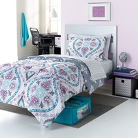 Simple by Design Damask 8-pc. Reversible Dorm Bed Set - XL Twin