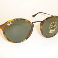 New RAY BAN Sunglasses Tortoise Frame RB 2447 1157 G-15 Glass Green Lenses