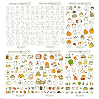 Molang Cute Rabbit Charactor Sticker Diary Scrap Book Scrapbooking Decor Decoration 6 Sheets Lot Korean Stationery by Cupid Gift Shop