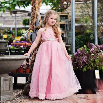 Scarlett Dress & Sash Rose Pink Sweetheart Neckline Tank Tulle Dress - Extended Sizes!