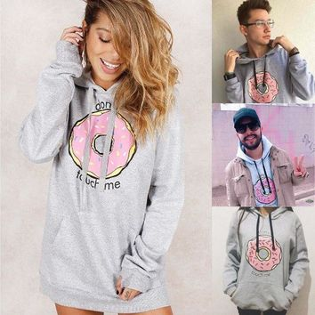 donut touch me hoodie - Women Lady Hoodie Sweatshirt Jumper Sweater Pullover Tops Coat Christmas Winter