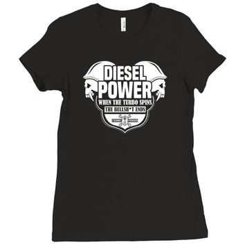 Diesel Power Ladies Fitted T-Shirt