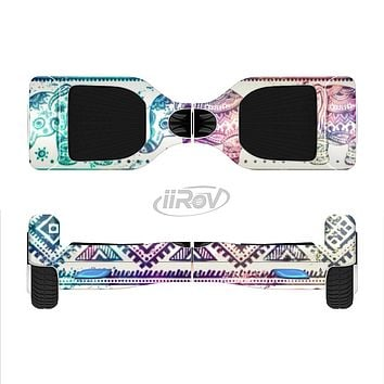 The Tie-Dyed Aztec Elephant Pattern Full-Body Skin Set for the Smart Drifting SuperCharged iiRov HoverBoard