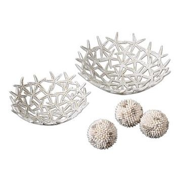 Uttermost Starfish Bowls With Spheres (Set of 5)