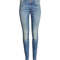 H&M - Skinny Regular Jeans - Light denim blue - Ladies