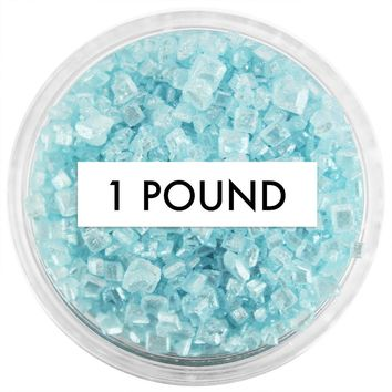 Pearly Light Blue Chunky Sugar 1 LB