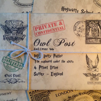 Personalized Hogwarts Acceptance Letter, Personalized Harry Potter Letter, Hogwarts Letter, Harry Potter Gift Letter, Custom Harry Potter