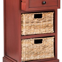 Carrie Side Storage Side Table Red