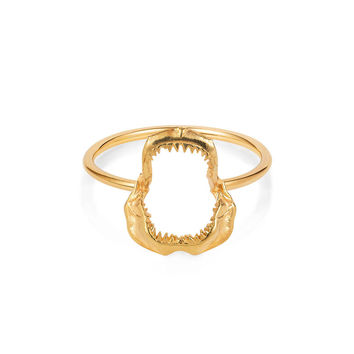 Gold Vermeil 'Shark Jawbone' Ring