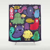 Colorful creatures Shower Curtain by Maria Jose Da Luz