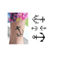 """Ship Anchor"" Temporary Tattoo Waterproof Body Tattoo Stickers 2pcs/set"