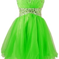 Charmingbridal A Line Beaded Short Prom Dress Formal Party Homecoming Dress
