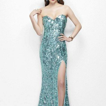 Primavera Couture - 9681 Bare-Shoulder Embellished Evening Gown