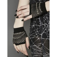 Break Chainz Fishnet Gloves