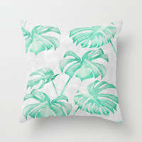 city leaf Throw Pillow by Mauramon