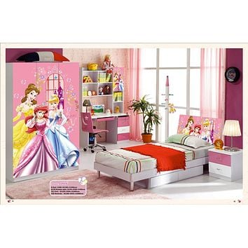 Kids Room Furniture Set Contemporary Design - Disney Fairy Theme
