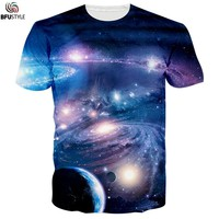 2017 Summer T Shirt Men/Women 3D Planet Space Galaxy Graphic T-shirts Camiseta De Los Hombres Brand Cotton Clothing Casual Tops