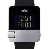 Braun Men's Men's Digital Swiss Watch - Black