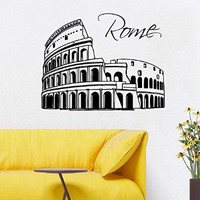 Wall Decals Vinyl Decal Sticker Italy Colosseum Wall Decals Colosseum Vinyl Decal Sticker Italy Coliseum Rome Architecture World City Beauty Salon Home Interior Design Wall Art Murals Bedroom Living Room Dorm Decor KT134