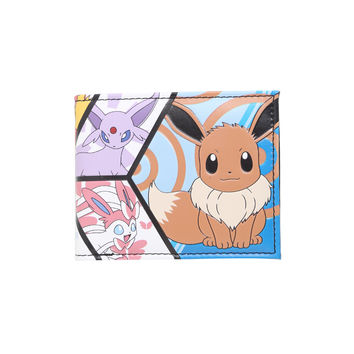Pokemon Eevee Evolutions Panel Bi-Fold Wallet