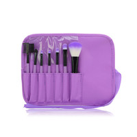 Free shipping 7Pcs Professional Makeup Brush set+Black Pouch Bag Cosmetic Brushes