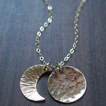 Moon Eclipse Gold Necklace