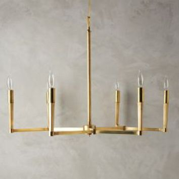 Villier Chandelier by Anthropologie in Brass Size: One Size Lighting