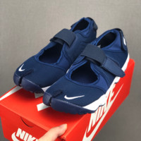 HCXX 19July 610 NIKE AIR RIFT Men's and women's sports and leisure running ninja shoes blue white