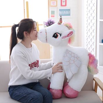 VOTEE Large unicorn flying horse doll stuffed doll single horn fairy beast best gifts for kids