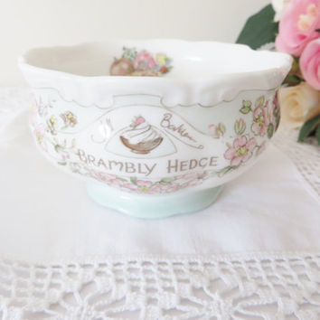 Brambly Hedge Sugar bowl, Brambly Hedge china, Brambly Hedge sugar pot