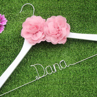 Personalized two flower bridal hanger, personalized custom Bridal, Brides Hanger, Wedding Hanger, Personalized Bridal Gift.-in Event & Party Supplies from Home & Garden on Aliexpress.com | Alibaba Group