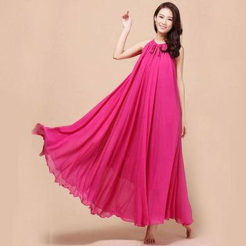 CREYHY3 New summer Maternity Dresses Long Chiffon Bohemian Dress Clothes For Pregnant Women Maternidade Pregnancy Clothing Mother Wear