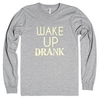 Wake Up DRANK-Unisex Heather Grey T-Shirt