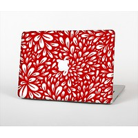 The Red Vector Floral Sprout Skin Set for the Apple MacBook Pro 13""