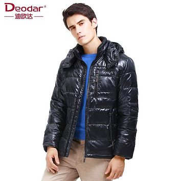 Deodar New Fashion 2017 Winter Origin Design High Quality Waterproof Hooded Duck Down Jackets Mens Solid Casual Coats DX4282
