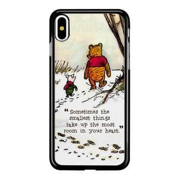 Winnie The Pooh Quote iPhone X Case