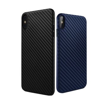 HOCO for iPhone X Soft TPU Protective Case Carbon Fiber Patern Ultra Thin Slim Back Cover Stylish Premium Luxury Matte Shell