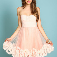 Bow and Ruffle Organza Dress