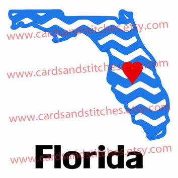 Florida Chevron (States) - Digital Cutting Design - Instant Download - Digital Cutting Machines -SVG, DXF, JPG