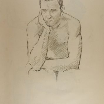 Just Thinking Figure Study Drawing