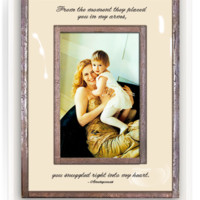From The Moment They Placed You In My Arms Copper & Glass Photo Frame