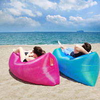 Out Sleeping Bag 240*70 cm Airbags Lazy Sofa Inflatable Air Sofa Bed Lazy Bones Beach Lounge Foldable Camping Fast Sleeping Bed