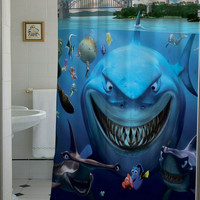 Finding Nemo shower curtain that will make your bathroom adorable