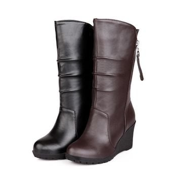 Hot Deal On Sale Wedge Boots [11846983823]