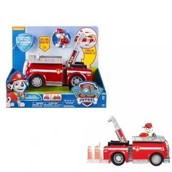 Without box! Genuine Paw Patrol On A Roll Marshall, Figure and Vehicle with Sounds - transformation high quality kids toy gift