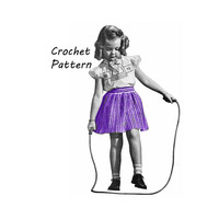 Girl's Striped Drindle Skirt Crochet Pattern Sz 6, 8, 10 || Vintage 1940's || Reproduction PDF Instant Download 5130-175