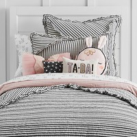 The Emily & Meritt Ruffle Stripe Quilted Bedding