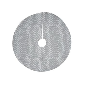 "Project M ""Hand Knit Grey"" Gray White Digital Tree Skirt"