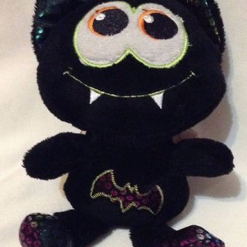 DanDee Black BeanBag rainbow sequin Bat Halloween Plush Toy stuffed animal shiny