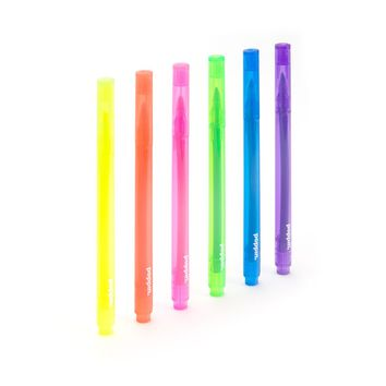 Assorted Thin Highlighters: Set of 12 | Colorful Highlighters | Poppin